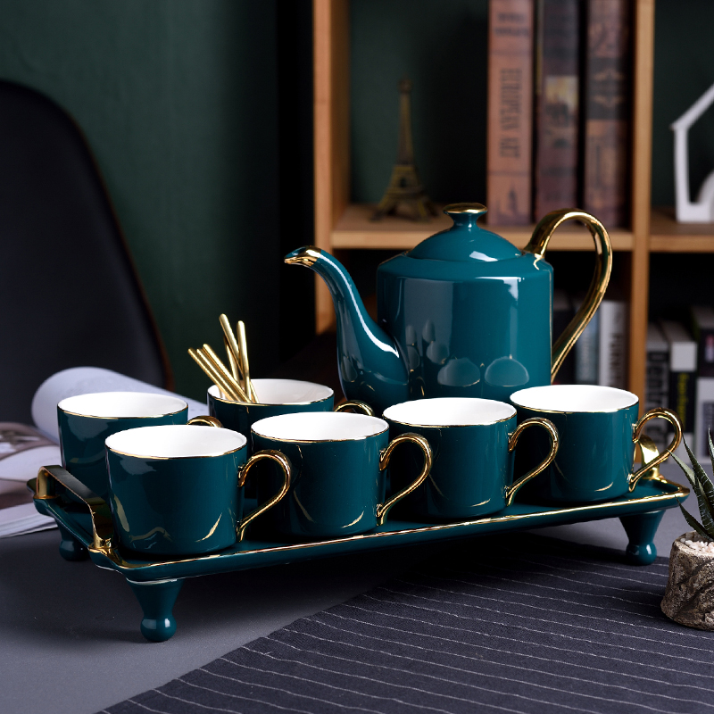 Northern Europe Ceramic Coffee Cup Set Household European Style Small Luxury Afternoon Tea Set Teacup Water Set Gift Box