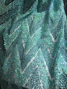 Image 1 - Модная африканская кружевная ткань для сексуального платья, нигерийская кружевная ткань, блестящая ткань