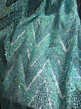 אופנתי אפריקאי תחרת בד עבור סקסי שמלת תחרה ניגרית בד JIANXI.C 63426 עם מודבק גליטר
