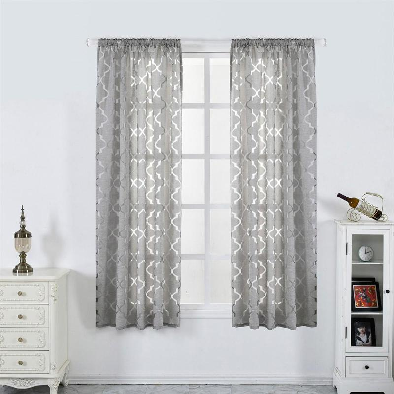 Lantern Cut Flower Bubble Print Window Blinds Drapes Half Blackout Curtains For Living Room Curtains Short Black Curtain