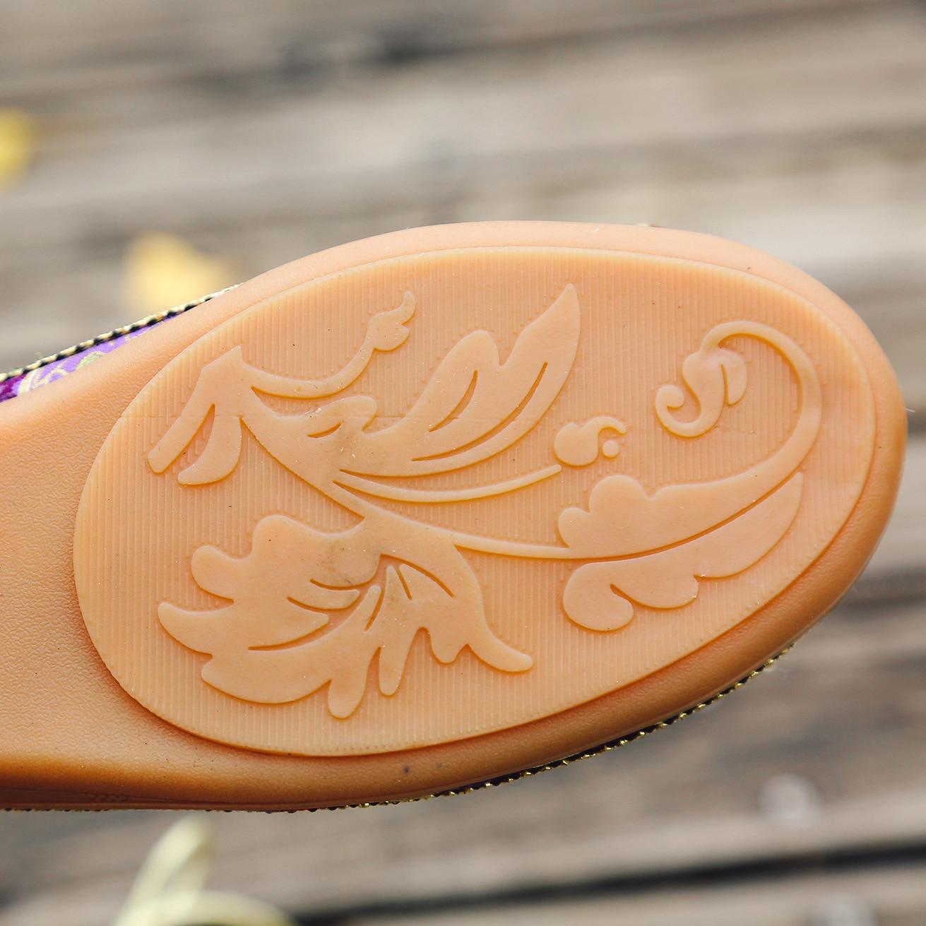 Mujer Appartements Zapatos Brodé Main Size42 Chaussures Rétro Cheville À rouge Casual Bretelles Ethnique Bleu Perlé Mocassins Plus Femmes La Plates d6q8OxnX