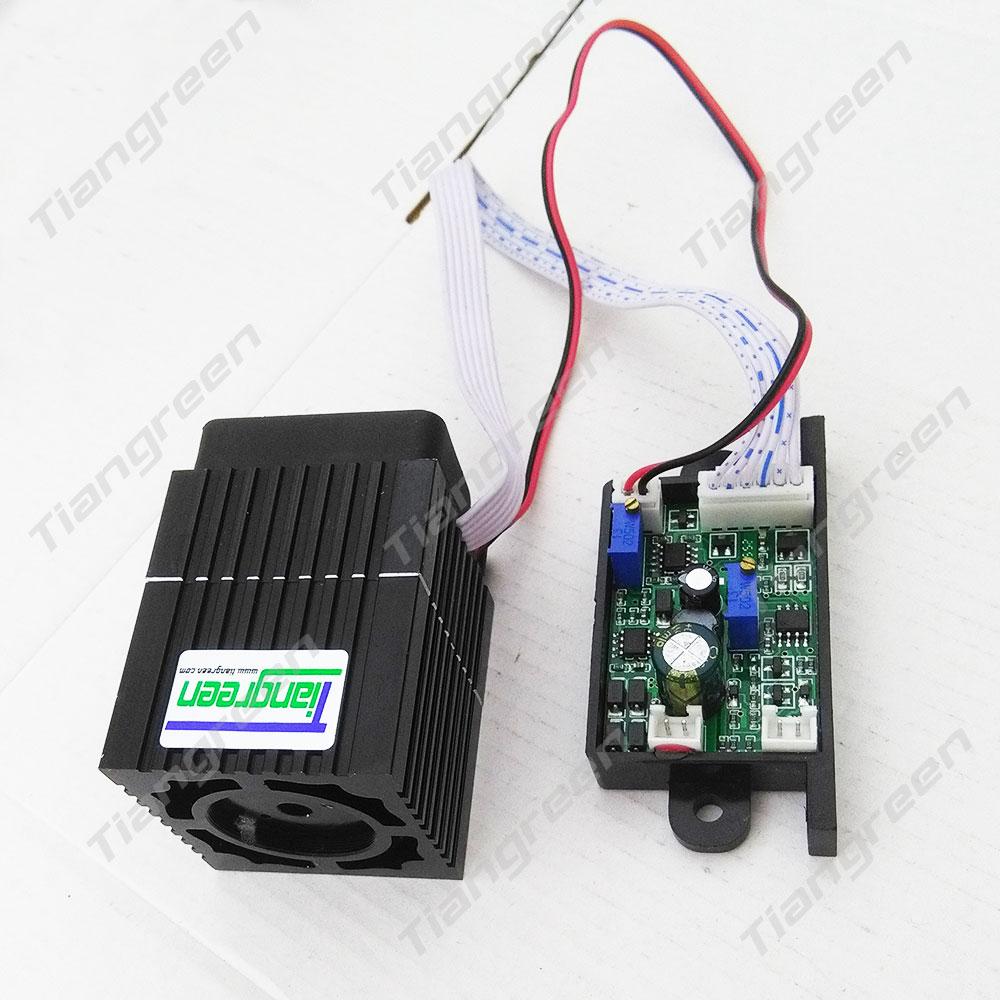 Tgleiser 532nm Green Laser 300mW Stage Lighting 12V With TTL Modulation RGB Laser Diode