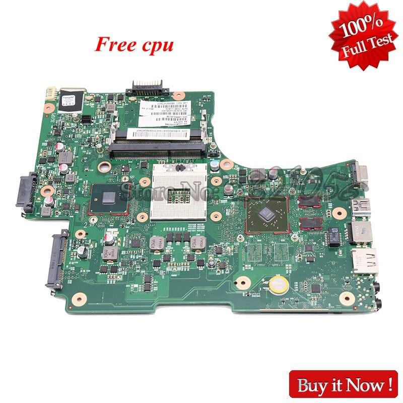 Nokotion placa-mãe para laptop, placa mãe para toshiba satélite l650 l655 placa principal v000218140 v000218130 hm55 ddr3 hd5470 gpu com cpu grátis