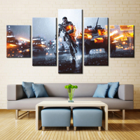 Forbeauty 5 Piece Canvas Painting For Livingroom Los Angeles Convention Center BattleField War