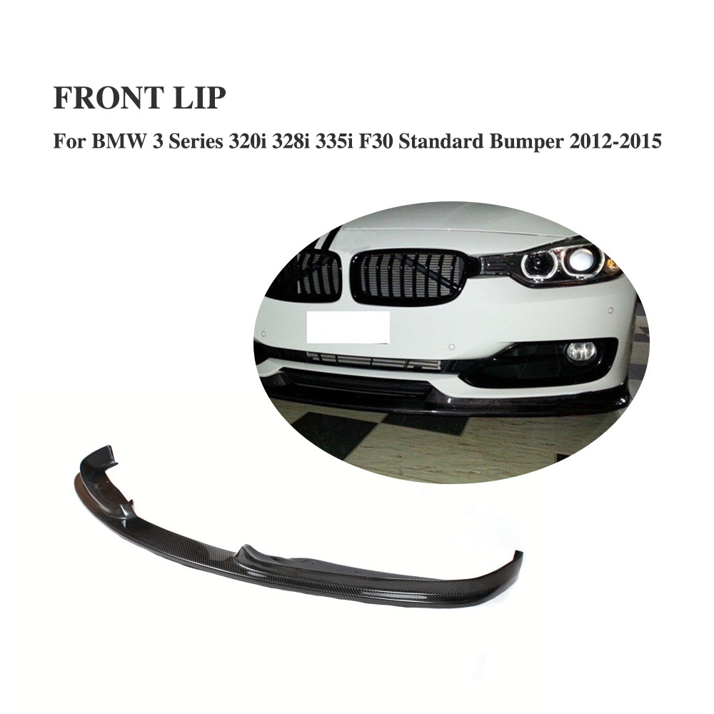 H Style Carbon Fiber Front Bumper Lip Aprons Fit for BMW 3 Series 320i 328i 335i F30 Standard Bumper 2012-2015 new 2pcs female right left vivid foot mannequin jewerly display model art sketch