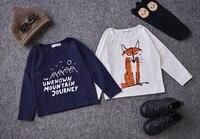 Bobo choses renard motif patchwork bébé garçons vêtements enfants vêtements à manches longues t chemises d'hiver vêtements vetement enfant enfants tops