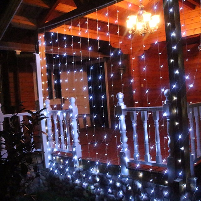 32 m 2 2m curtain icicle string christmas fairy light garden 32 m 2 2m curtain icicle string christmas fairy light garden wedding aloadofball Gallery