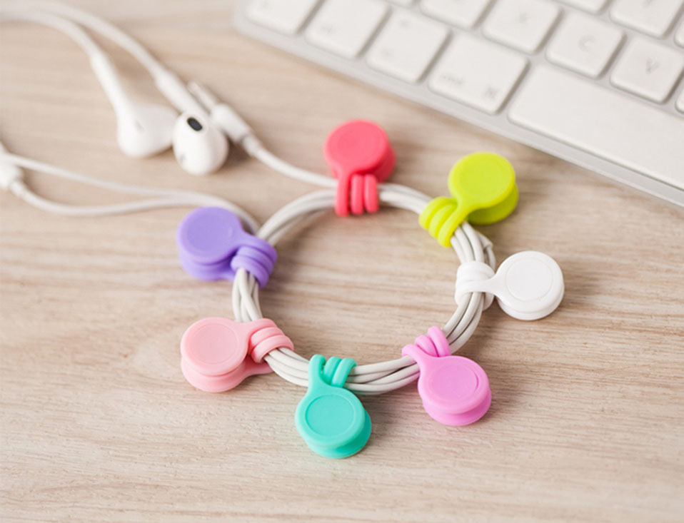 3PcsPack Earphone Cord Winder Cable Holder Organizer Clips Multi Function Durable Magnet Headphones Winder Cables Drop Shipping (7)