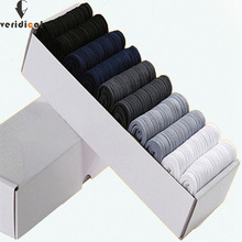VERIDICAL 10 pairs/lot/box Brand New Men Bamboo Fiber Socks High Quality busines