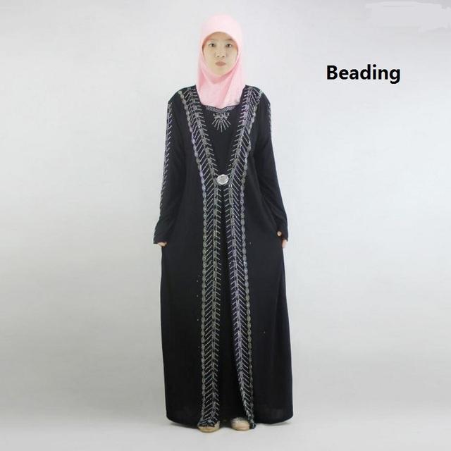 M-2XL Nova Chegada Islâmico Malásia Turco abayas em Dubai vestido Dos Muçulmanos das Mulheres senhoras roupas de alta qualidade vestido w1749