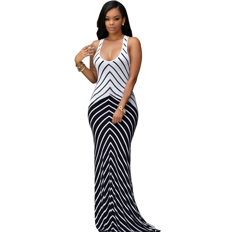 Popular Striped Maxi Dress-Buy Cheap Striped Maxi Dress lots from ...