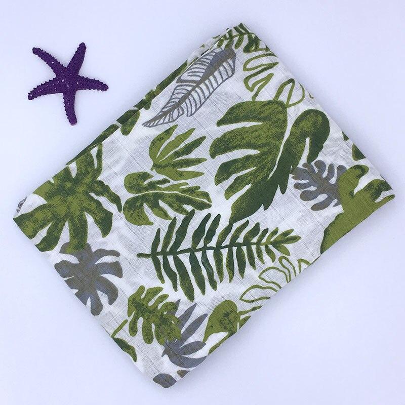Manta de bebé recién nacido muselina 100% algodón manta de bebé Swaddle Wrap recibir manta Toalla de baño 120x120 cm cama muselina swaddle