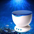 LED Novelty Night Light Blue  Ocean Wave Lights with Speaker Projector Projection Lamp for Kid Best Christmas Gift