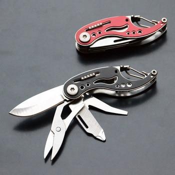 المحمولة متعددة السكاكين في الهواء الطلق التخييم جيب سكينة سرفايفل EDC سكين للفرد Multitool مقص مفك المفاتيح السكاكين