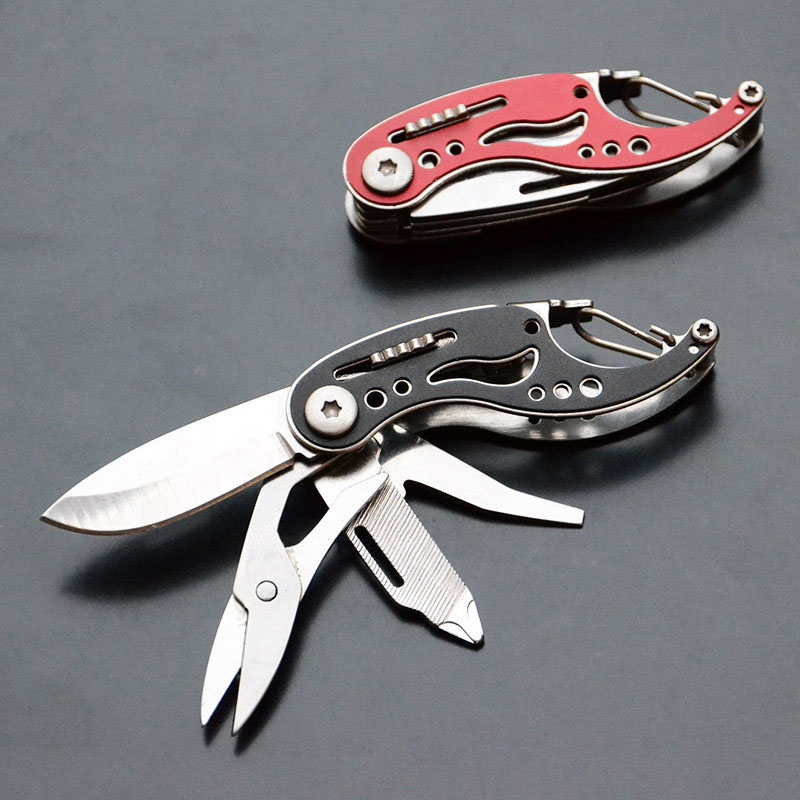 Portable Multi Knifes Outdoor Camping Pocket Survival Knife EDC Folding Knife Multitool Scissors Screwdriver KeyChain Knives Portable Multi Knifes Outdoor Camping Pocket Survival Knife EDC Folding Knife Multitool Scissors Screwdriver KeyChain Knives