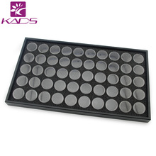 KADS 50set/pack 50Pots Clear Color Nail Art Display Box Nail Art Empty Bottle For Nail Art Decoration Products Showing shelf