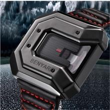 2019 BENYAR Brand Watch Reloj Hombre Men Fashion Waterproof Leather Quartz Clock Sport Watches Relogio Masculino erkek kol saati