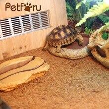 ФОТО petforu 60*40cm natural coconut fiber mat reptile pet breathable bedding liner - brown