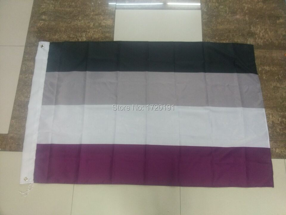 Free Delivery Gay Banner 3*5ft Parade Festival Carnival <font><b>Asexual</b></font> <font><b>Pride</b></font> Flag image