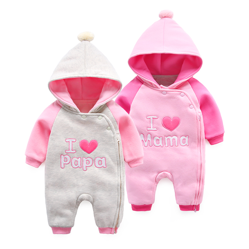 Baby clothes autumn baby jumpsuits hooded jackets long sleeved rompers