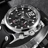 BENYAR Top Brand Full Steel Mens Watches Luxury Sport Quartz Watch Men Tachymeter 30M Waterproof Male