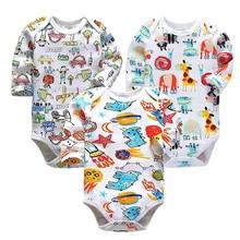 Newborn Bodysuit Babies Baby Boys Girls Clothes Cute Cartoon Print Long Sleeve Infant Bodysuits baby clothing