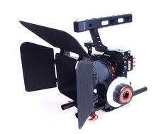 15 мм Rod Rig DSLR Камеры Видео Стабилизатор Кейдж + Следуйте Фокус + Матовый коробка для Sony A7 A7S A7RII A6300 A6000/GH4 GH3/EOS M5 М3