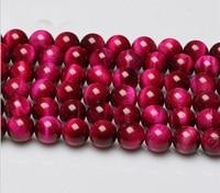 6mm 8mm 10mm 12mm Rose Oeil de Tigre Pierre Gemme pierre Perle Strand Rose de perles de Catégorie A 3 chaîne