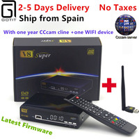 Satellite Receiver Freesat V8 Super DVB S2 With 1 Year Europe Cccam 4clines Full HD 1080P