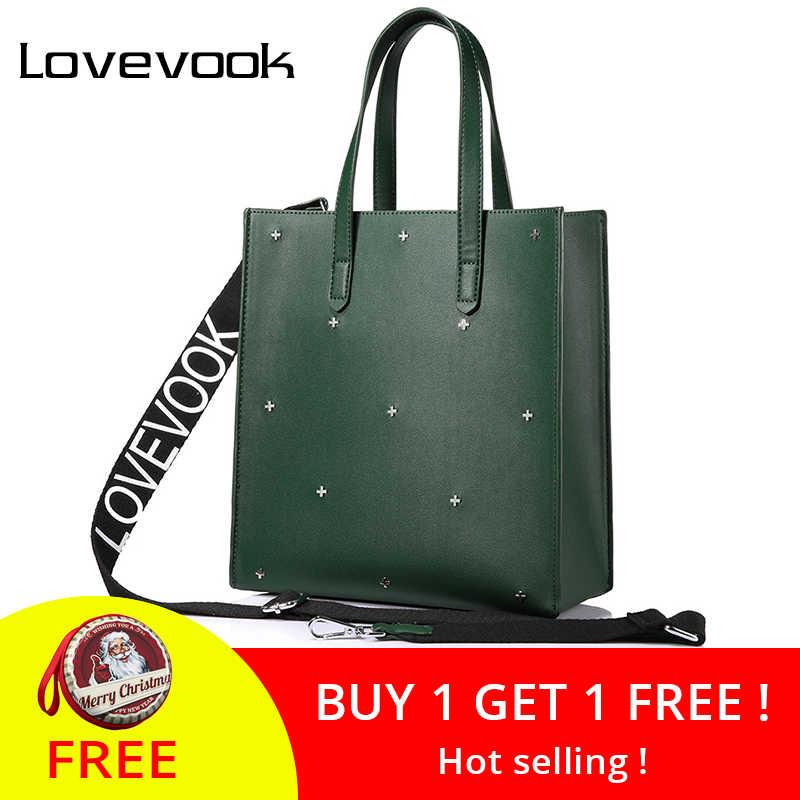 6fb1c1680e2 LOVEVOOK women handbags high quality PU female shoulder messenger bags tote  large capacity famous brands luxury designer Black