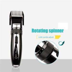 Image 5 - Tondeuse à cheveux professionnelle sans fil, appareil électrique 100 240 tondeuse à barbe V, 4 peignes avec coupe de cheveux S42