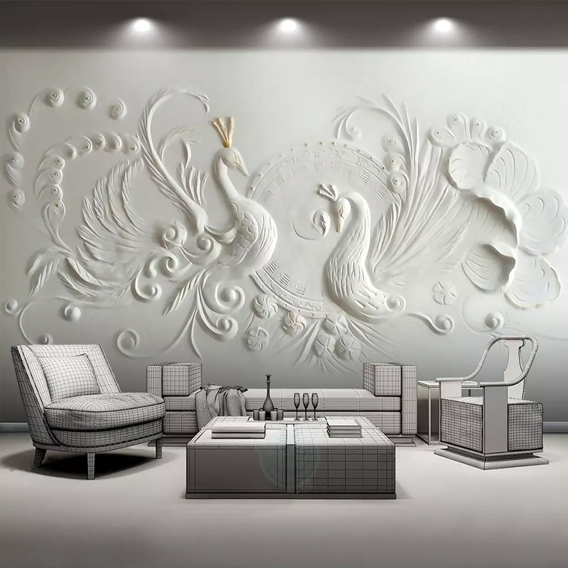 Simple 3d Wall Painting Designs For Living Room Living Room
