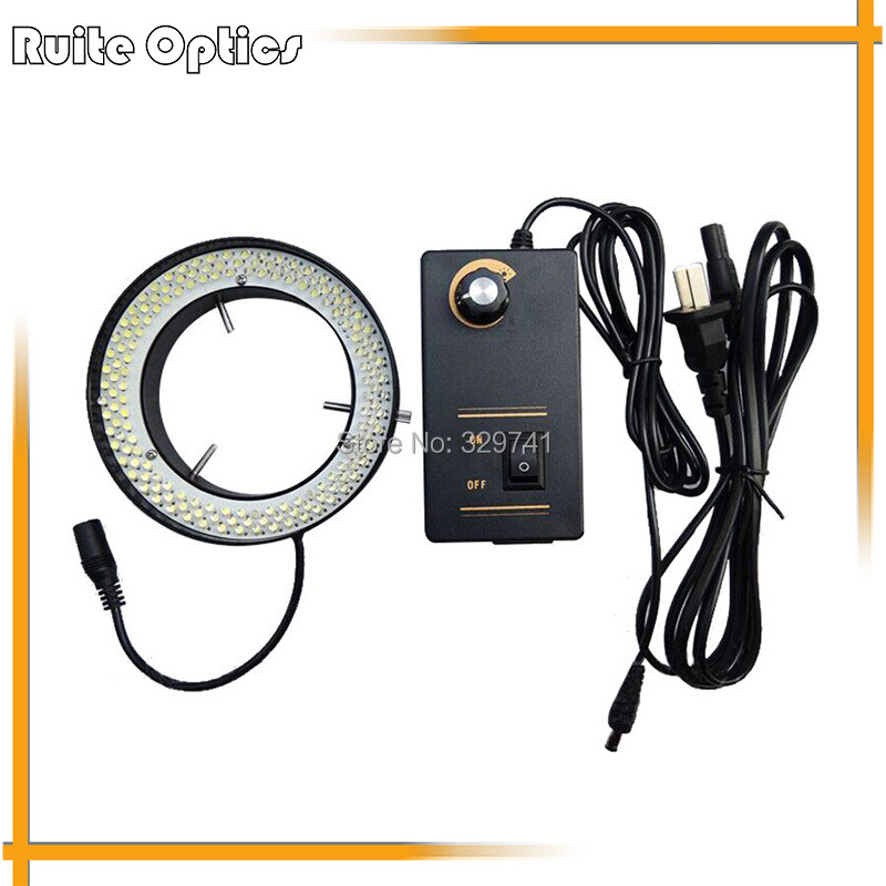 156 LED White Light Ring Lamps Microscope Light for Zoom Stereo Biological Video Microscope free shipping 600x 4 3 lcd display microscope zoom portable led video microscope with aluminum stand for pcb phone repair bga