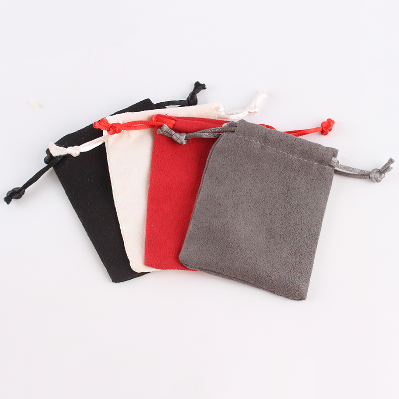 100pcs/lot 7*9 Cm High Quality Suede Drawstring Pouch Packing Jewelry Pouch Bag Candies Food Packaging Bag