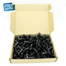 """Free Shipping!! Clearance Sale 100pcs package of OGO Black Elbow NPT 1/4"""" * 3/8"""" Tube bar."""