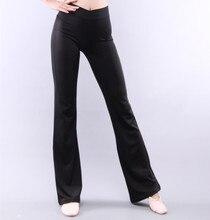 Женские гладкие длинные брюки для танцев, черная танцевальная одежда из мягкого спандекса для весны и лета, S 2XL, бесплатная доставка