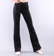 여성용 매끄러운 댄스 롱 팬츠 소프트 스판덱스 댄스웨어 블랙 봄 여름 S 2XL 무료 배송