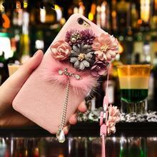 SIBEIXUN 3D цветы телефон чехол для iPhone 6 6s 7 8 Plus X XS Max с подвеской
