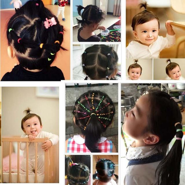 1000pcs/bag Girls Elastics Hair Bands