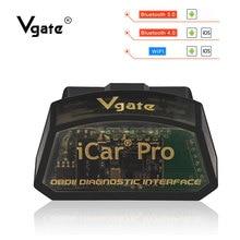 Vgate iCar Pro ELM327 V2.1 Bluetooth 4,0/wifi OBD2 сканер Мини elm 327 V2.1 диагностический инструмент для IOS/Android/PC считыватель кодов
