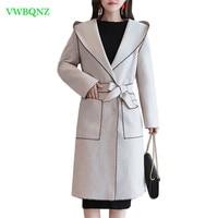 Шерстяное пальто Для женщин популярные кожаные пальто в Корейском стиле осень зима Новая двухсторонняя шерстяное пальто Для женщин длинны