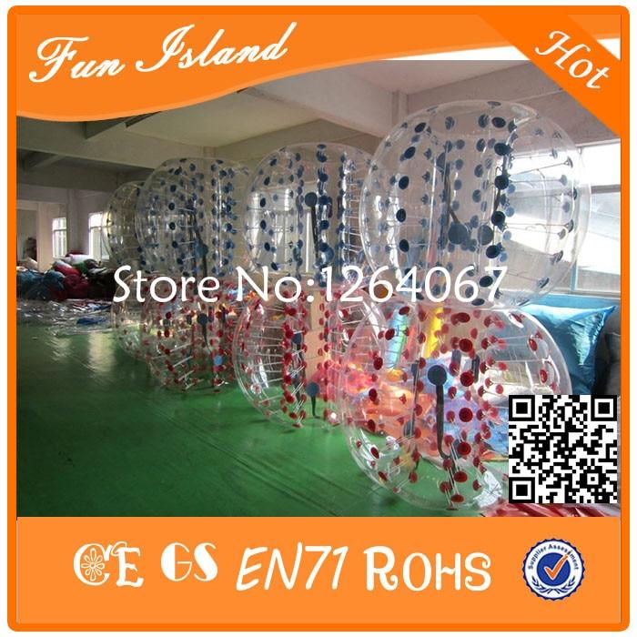 Livraison gratuite 12 pièces (6 bleu + 6Red + 2 pompe) boule de pochette de protection en polyuréthane thermoplastique Zorb Ball, football à bulles en vente