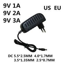 1 шт. AC/DC адаптер DC 9 в 1A 2A 3A AC 100-240 В конвертер адаптер питания 9 В Вольт 1000 мА зарядное устройство источник питания ЕС США вилка