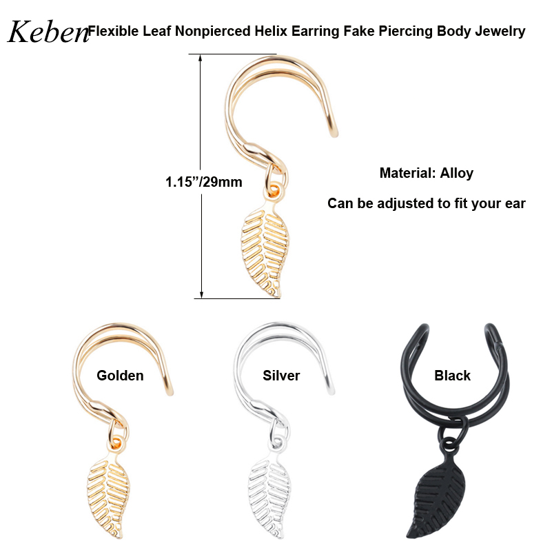 Starbeauty-2pcs-lot-Carved-Leaf-Nonpierced-Helix-Piercing-Tragus-Piercing-Fake-Piercing-Ear-Cuff-Clip-on (1)