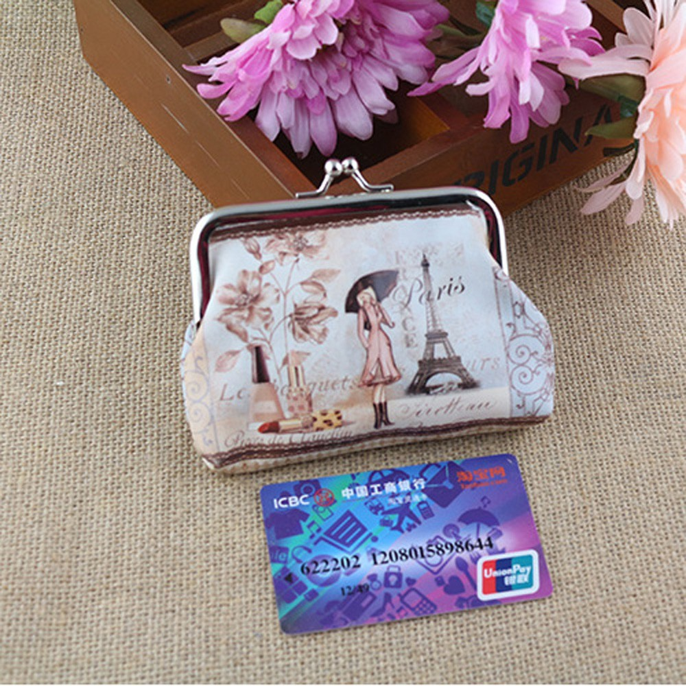 Hot Coin Purse Women Cute Wallet Leather Pouch Character Small Girls Change Pocket Hasp Keys Metal Bar Opening Bag hot women cute coin purse retro vintage flower canvas small wallet girls change pocket pouch hasp keys bag metal bar opening new