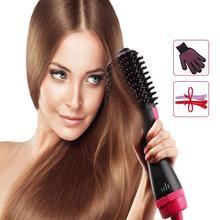 2 in 1 multi-function Hot Air Curling Iron comb rotating hot hair brush curler wheel rotating styler comb shape hair flat iron