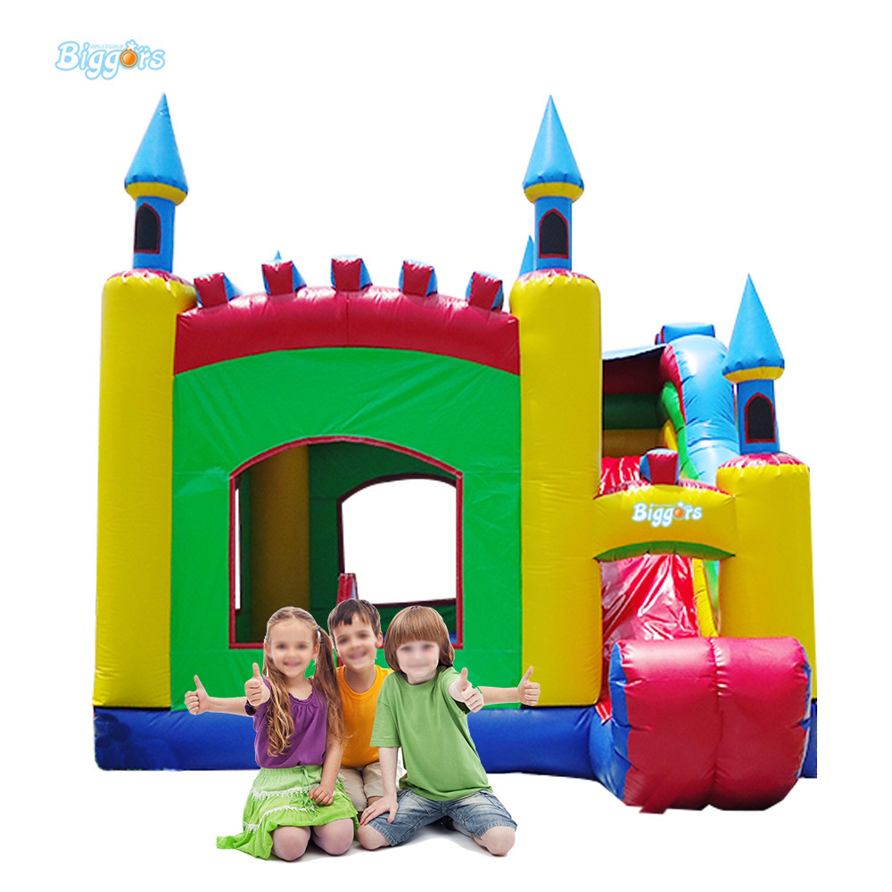 Durable Inflatable Kids Game Bouncy Castle Bounce House Slide With Blowers tropical inflatable bounce house pvc tarpaulin material bouncy castle with slide and ball pool inflatbale bouncy castle