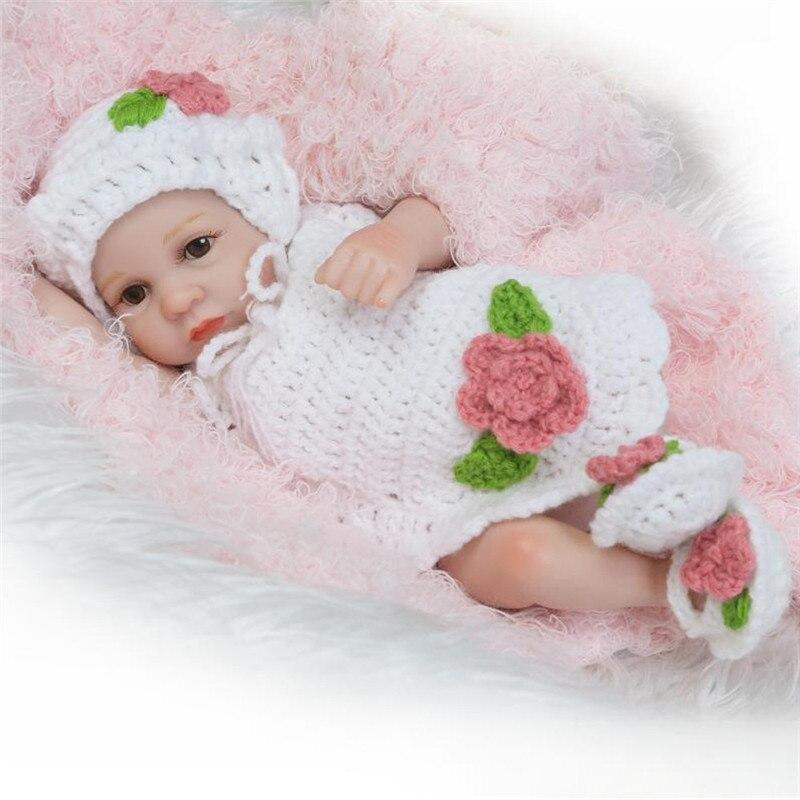 Lifelike Renascer Baby Doll 26 cm Boneca Recém-nascidos Crianças Playmate Da Menina de Presente de Aniversário