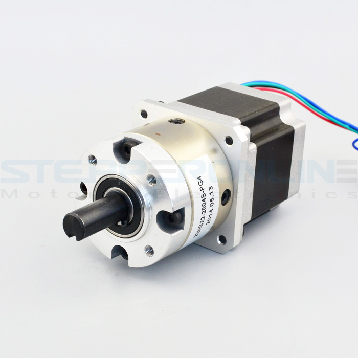 4 1 planetary gearbox nema 23 stepper motor 2 8a for diy for Stepper motor gear box