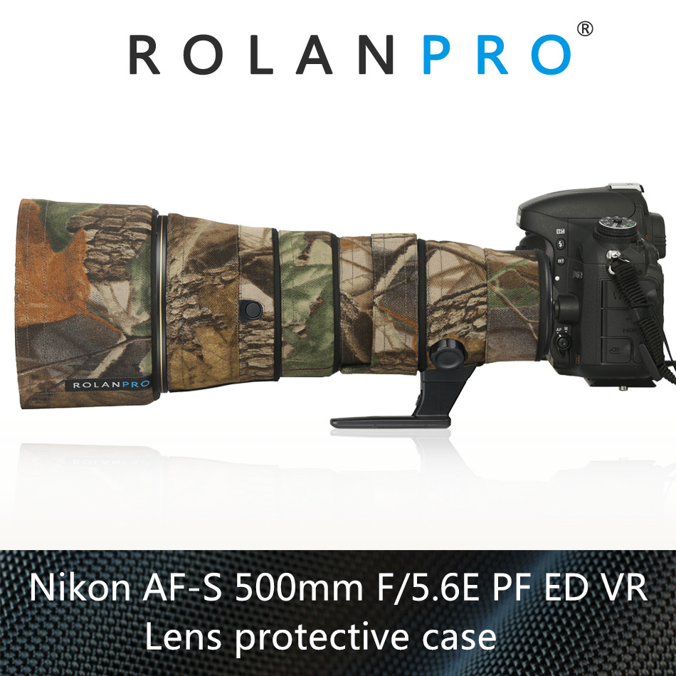 ROLANPRO Camera Lens Coat Camouflage For Nikon AF S 500mm F5 6E PF ED VR Lens